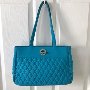 Vera Bradley Turquoise Blue Satchel Purse Bag